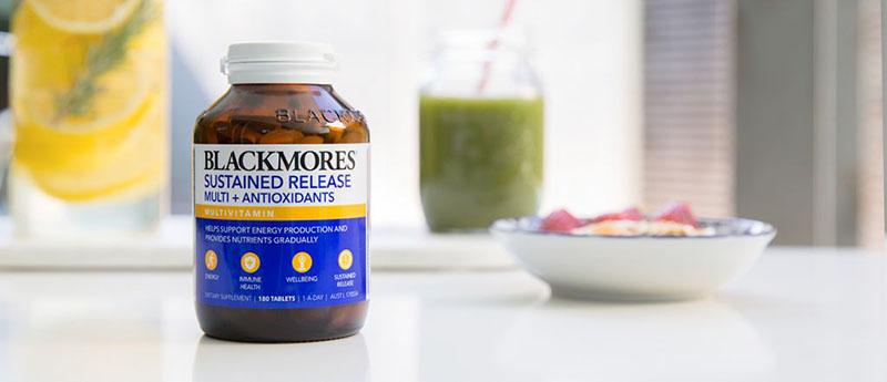 Blackmores Sustained Release Multi + Antioxidants là viên uống chống oxy hóa, duy trì sức khỏe và tăng sức đề kháng