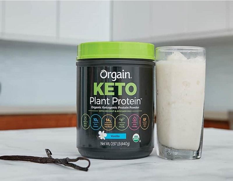 Bột Collagen Protein hữu cơ Orgain Keto Collagen Protein Chocolate 400g phù hợp cho những người đang ăn kiêng hoặc ăn thuần chay