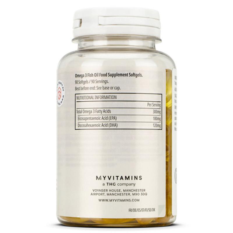Các thành phần chính của sản phẩm bao gồm: Dầu Cá Omega 3, Chất chống oxy hóa (Vitamin E), viên nhộng (Gelatin, Purified Water, Glycerin)