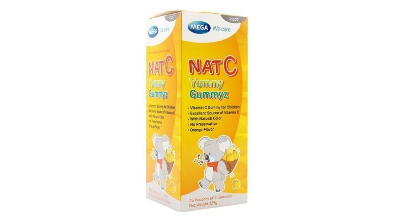 Kẹo dẻo Nat C hay còn gọi là kẹo Yummy có thể bổ sung vitamin C rất tốt cho trẻ