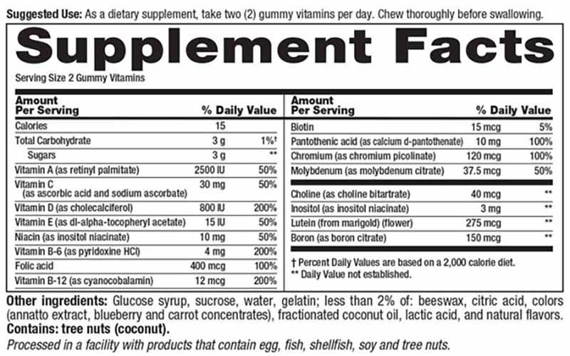 Thành phần chính của sản phẩm là 11 loại vitamin thiết yếu cho cơ thể