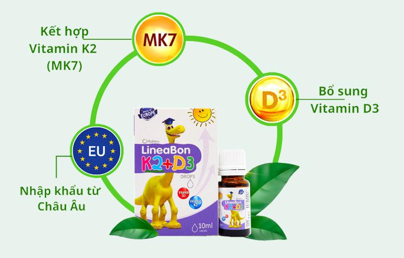 Sản phẩm chứa hàm lượng vitamin vừa đủ với nhu cầu của trẻ mỗi ngày