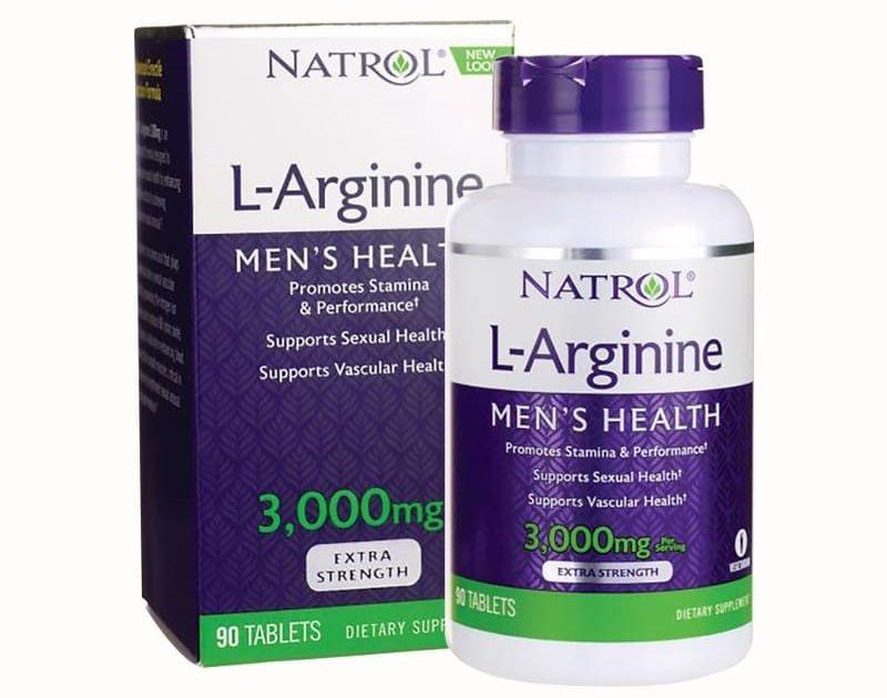 Viên uống hỗ trợ tăng cường sinh lý nam Natrol L-Arginine 3000mg