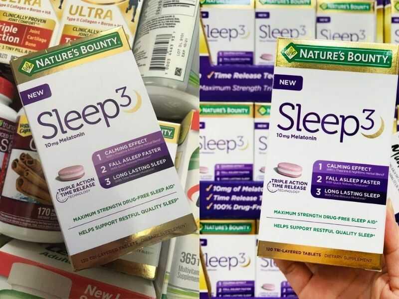 Viên uống Nature's Bounty Sleep 3 chăm sóc giấc ngủ
