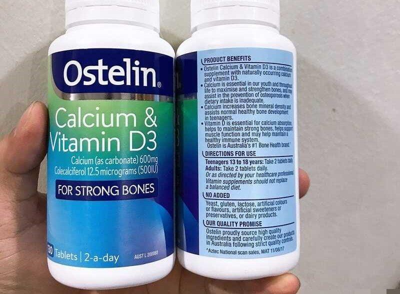 Thành phần chính của sản phẩm là Canxi và Vitamin D3