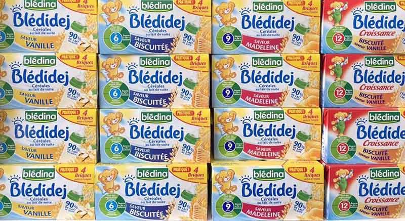 Sữa nước ngũ cốc Bledina được nhập khẩu từ Pháp dành cho trẻ từ 4 tháng đến 3 tuổi