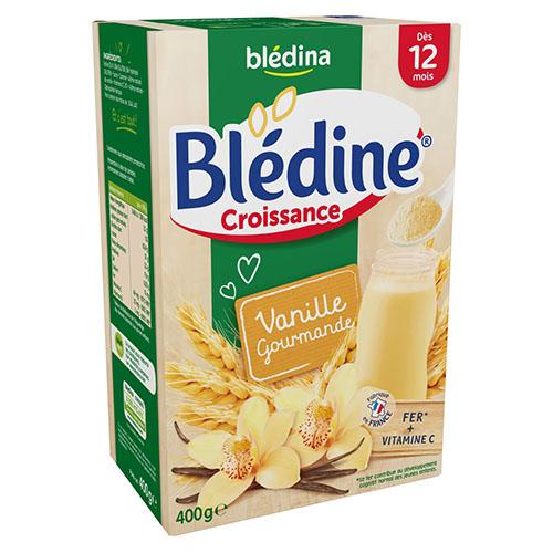 Bột ngũ cốc bledina vị vani 12m, bột pha sữa bledina
