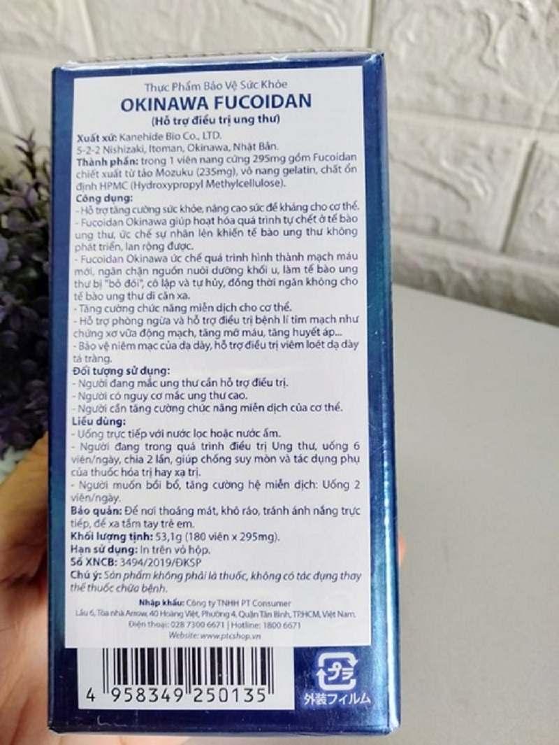 Thông tin chi tiết sản phẩm viên uống Okinawa Fucoidan