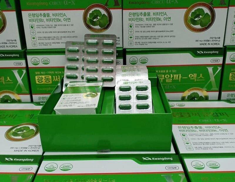 Viên uống bổ não Kwangdong Circu 120 viên là dòng thực phẩm chức năng cải thiện sức khỏe trí não rất phổ biến