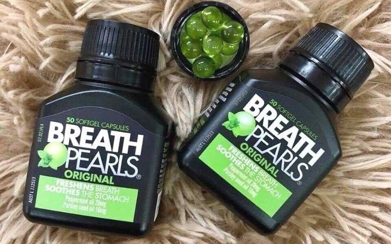 Hình ảnh viên uống thơm miệng Breath Pearls nổi tiếng tại Úc