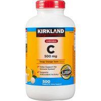 Viên nhai bổ sung vitamin C Kirkland 500mg