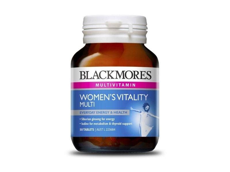 Viên uống Vitamin tổng hợp có xuất xứ từ Úc của thương hiệu Blackmores với nguyên liệu 100% tự nhiên nên được nhiều chị em tin dùng