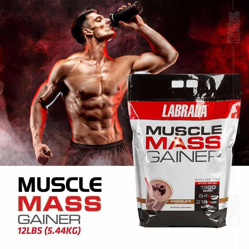 Dùng Muscle Mass Gainer giúp tăng cân, tăng cơ
