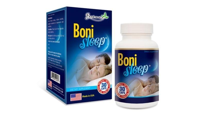 Bonisleep thuộc dòng thực phẩm chức năng, giúp người dùng cải thiện tình trạng mất ngủ và giảm căng thẳng thần kinh