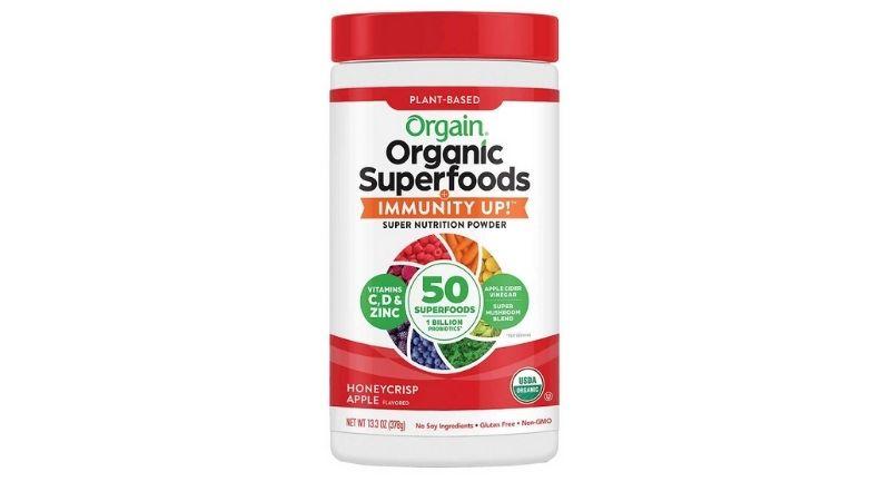 Orgain Organic Superfoods Immunity Up 378g (Honeycrisp Apple)