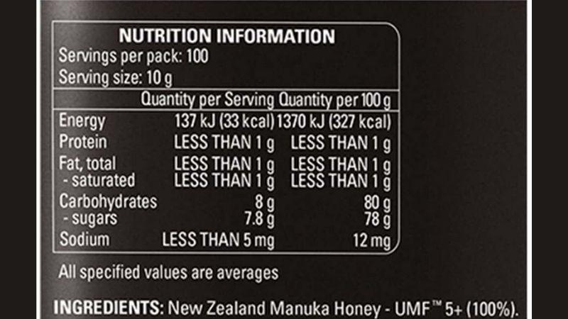 Thành phần của sản phẩm là 100% mật ong nguyên chất