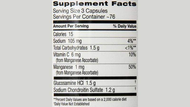 Glucosamine là thành phần chính có trong sản phẩm này