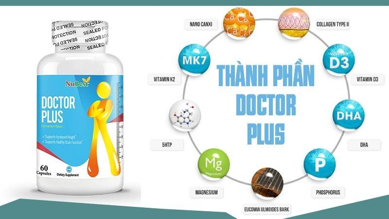 Viên uống tăng chiều cao Doctor Plus là thực phẩm hỗ trợ sức khỏe với công dụng giúp phát triển chiều cao