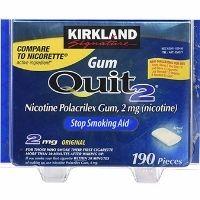 Kẹo cai thuốc lá Kirkland Signature Quit 2 Gum Ice Mint
