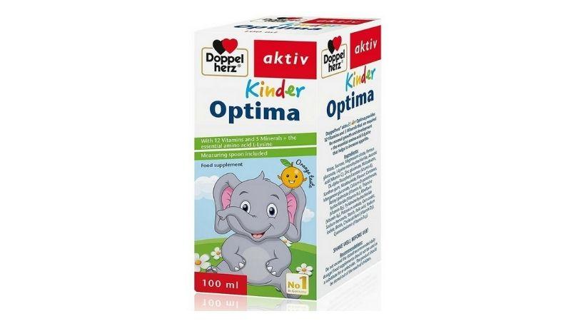 Kinder Optima là dạng siro, được sản xuất để bổ sung khoáng chất và vitamin hàng đầu cho trẻ