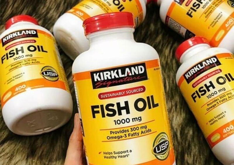 Tinh dầu cá Omega 3 Kirkland là sản phẩm bổ mắt, tốt cho trí não, tim mạch