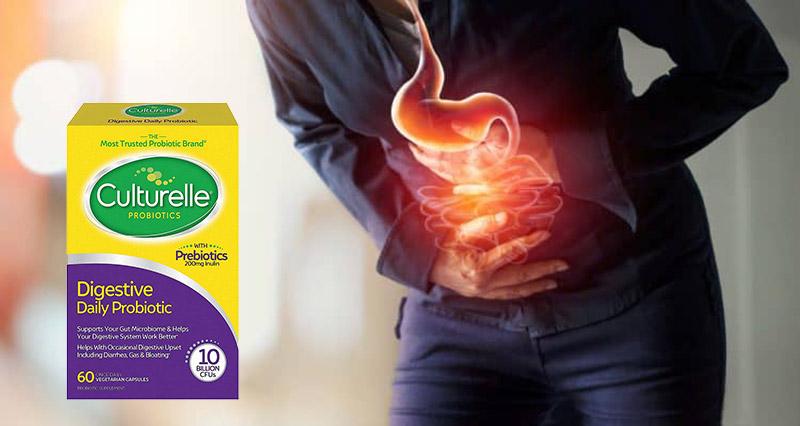 Mỗi viên uống Probiotic Prebiotics cung cấp đến 10 tỷ lợi khuẩn Lactobacillus GG