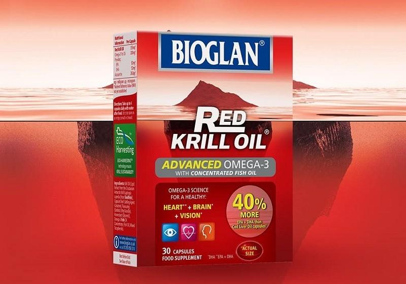 Dầu nhuyễn thể Red Krill Oil Bioglan mang lại nhiều công dụng tốt cho sức khỏe