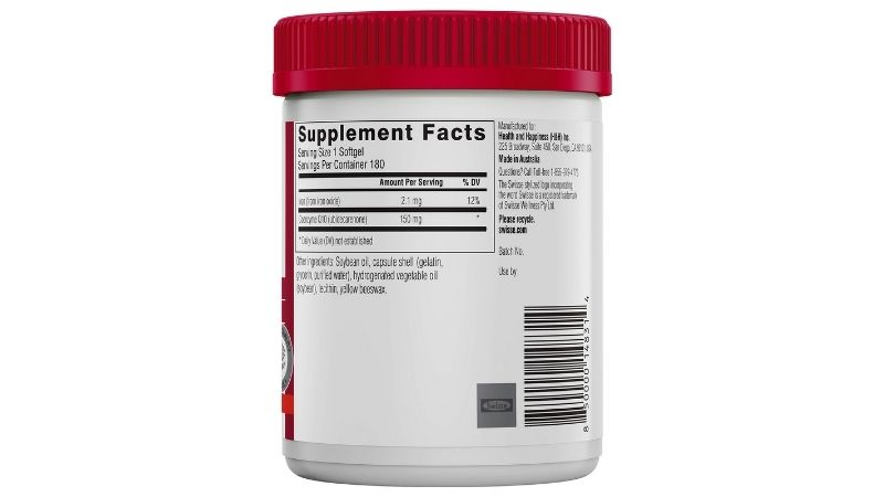 Thành phần chính trong sản phẩm là CO-Enzyme (Ubidecarenone)