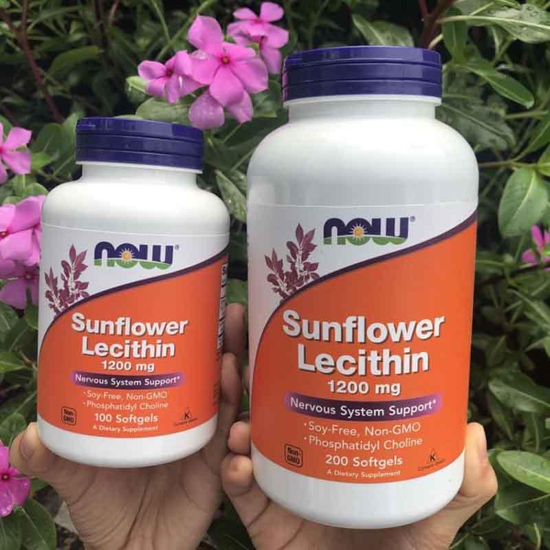 Viên uống chống tắc tia sữa Sunflower Lecithin có hộp 100 viên và 200 viên