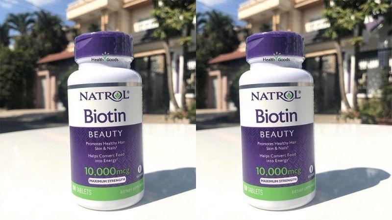 Viên uống mọc tóc Biotin 10000 mcg là sản phẩm có nguồn gốc từ Mỹ
