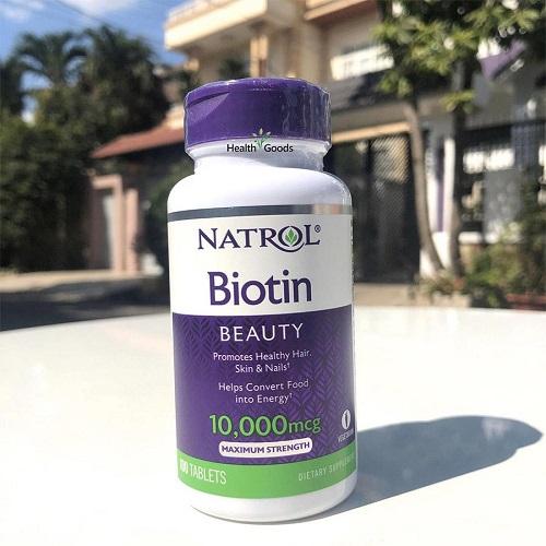 Viên uống Chống Rụng Tóc Biotin 100 Viên 10.000mcg Natrol