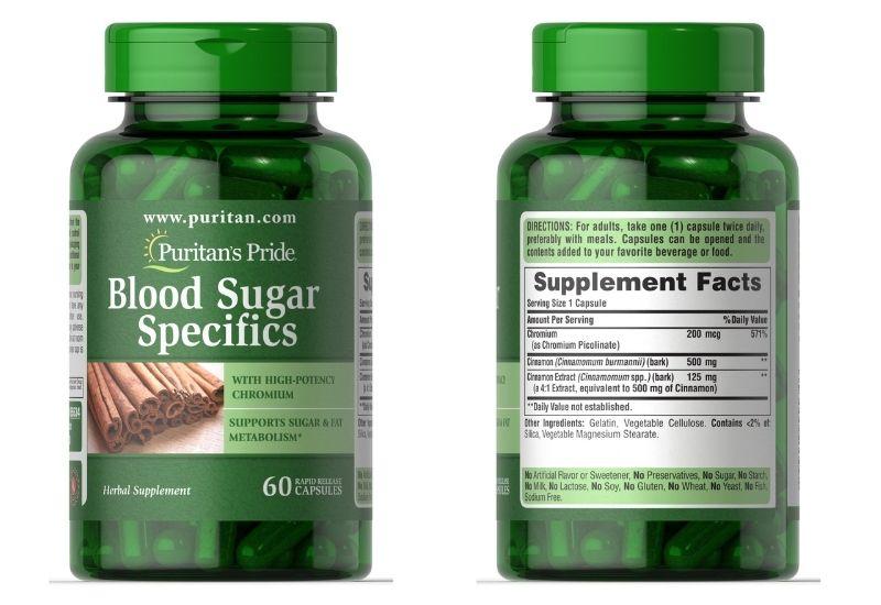 Viên uống Blood Sugar Specifics with Cinnamon & Chromium được tin dùng hiện nay
