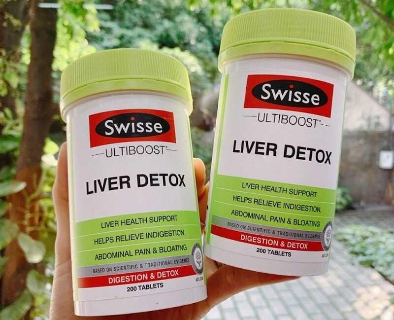 Người dùng chỉ nên uống 2 viên Swisse Liver Detox mỗi ngày để đạt hiệu quả tốt nhất