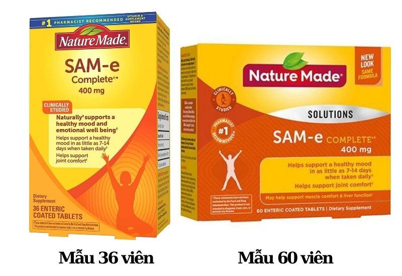 Viên uống giảm stress và bổ khớp Nature Made SAM-e Complete 400mg