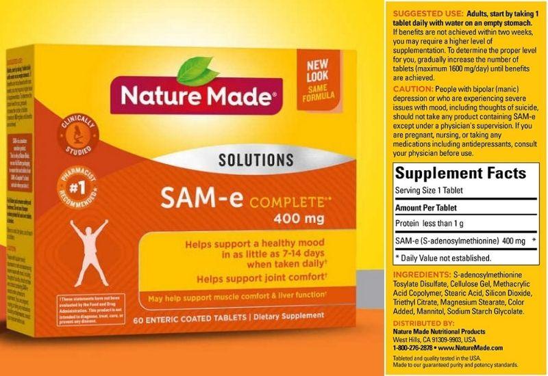 Nature Made SAM-e Complete 400mg có nhiều ưu điểm nổi bật