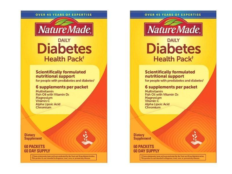 Nature Made Diabetes Health Pack là sản phẩm dành riêng cho những người bị tiểu đường