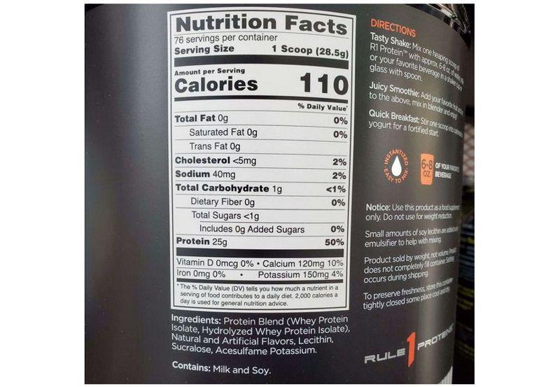 RULE 1 76 servings được chiết xuất từ những thành phần an toàn