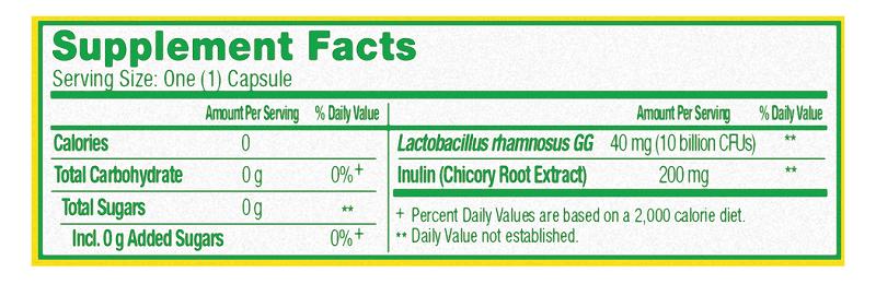 Bảng thành phần của sản phẩm Culturelle Digestive Daily Probiotic