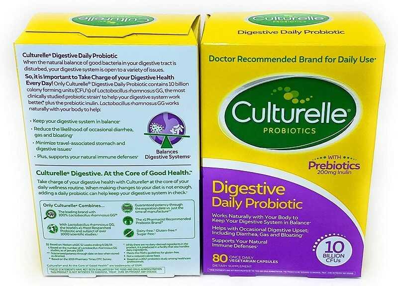 Digestive Daily Probiotic dạng 60 viên hay 80 viên đều chứa nhiều thành phần có lợi cho sức khỏe