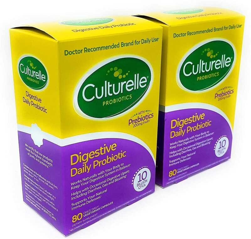 Đây là hình ảnh viên uống Digestive Daily Probiotic với số lượng 80 viên/hộp