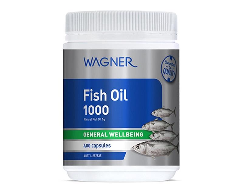 Viên uống dầu cá Wagner Fish Oil 1000 mg được chiết xuất từ cá nước lạnh