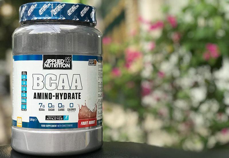 Bao bì sữa BCAA Amino Hydrate hỗ trợ tăng cường sức bền, chống dị hóa cơ