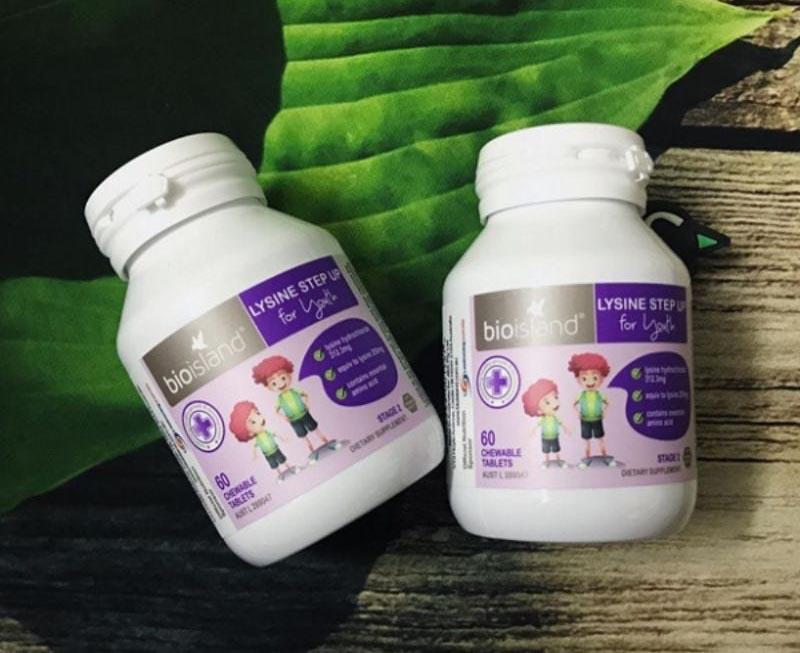 Bio Island Lysine 60 viên giúp thúc đẩy quá trình phát triển toàn diện ở trẻ