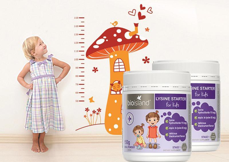 Bột Bio Island Lysine Starter hỗ trợ tăng chiều cao cho trẻ 6 tuổi