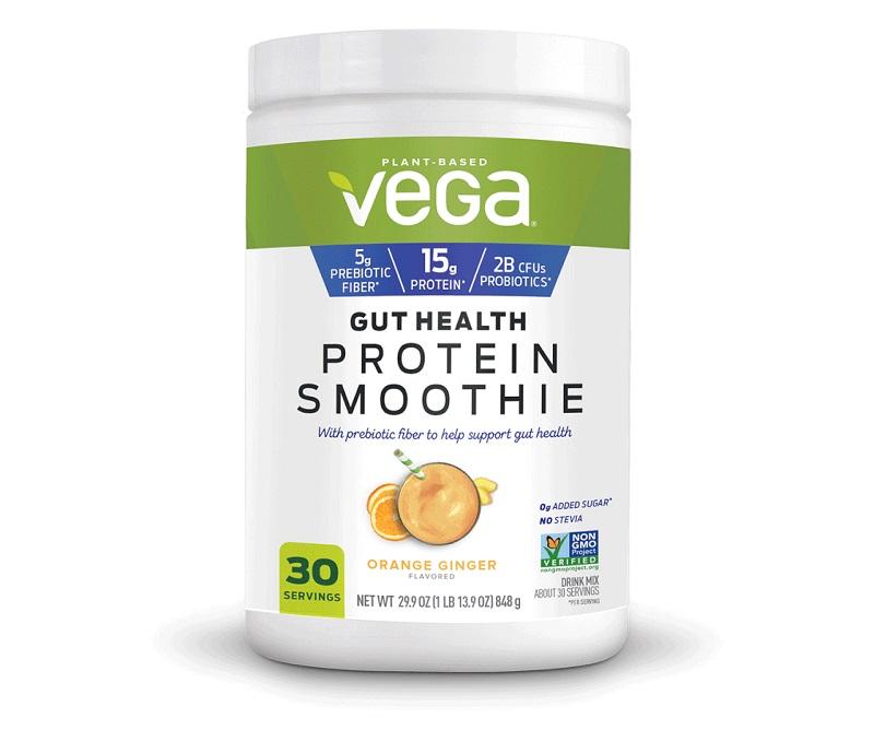 Bột đạm hỗ trợ tiêu hóa Vega Gut Health Protein Smoothie Powder 848g vị cam gừng là sản phẩm dinh dưỡng của Mỹ
