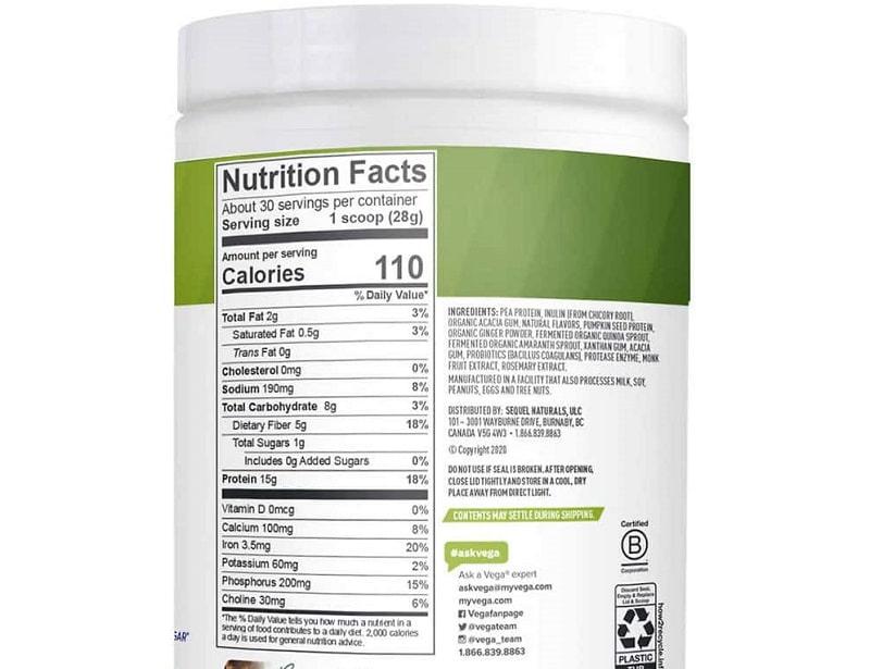 Sản phẩm chứa nhiều thành phần dinh dưỡng rất tốt cho sức khỏe