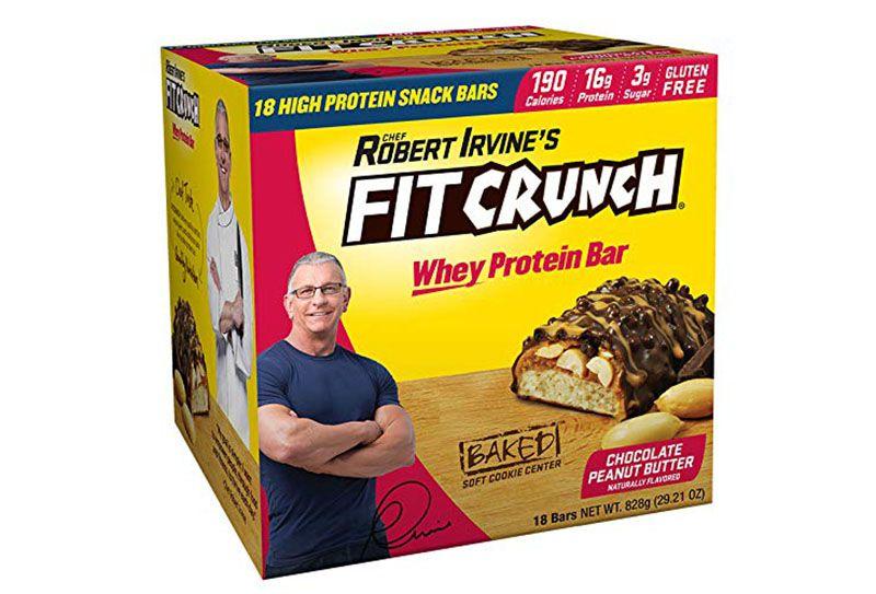 Bánh bơ đậu phộng Fit Crunch Protein Bars có chứa 18 thanh nhỏ