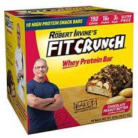 Bánh socola bơ đậu phộng Chef Robert Irvine's Fit Crunch Whey Protein Bars 18 thanh