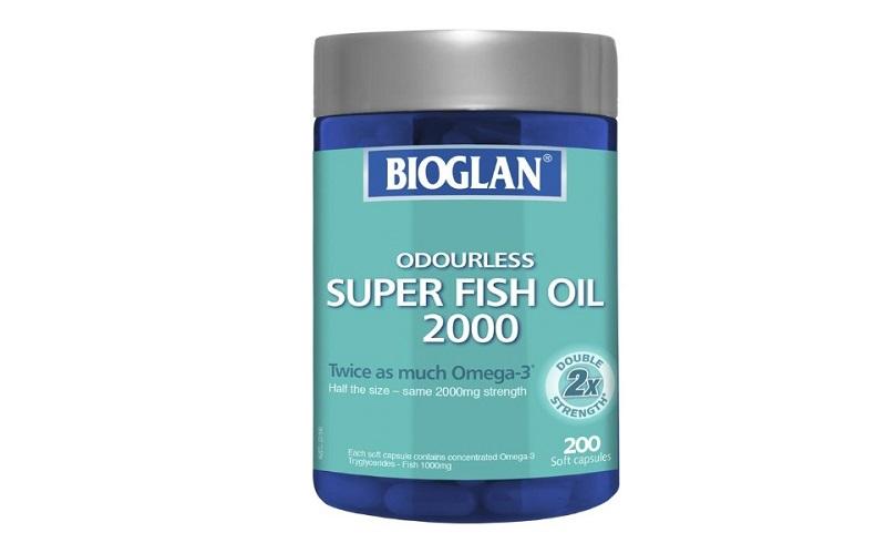 Viên nang dầu cá Bioglan 2000mg Super Fish Oil có nguồn gốc xuất xứ từ Úc
