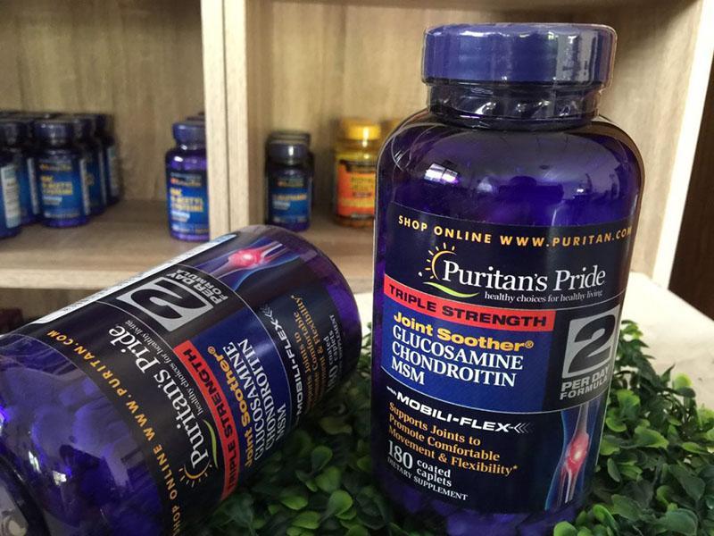 Glucosamine Puritan's Pride là viên uống chăm sóc sức khỏe xương khớp của Mỹ